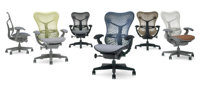 Office World's seating - Herman Miller Mirra Chairs